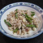 Farro Salad w/ Asparagus, Almonds and Goat Cheese