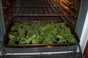 Kale in the oven