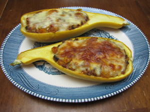 Stuffed Crookneck Yellow Squash