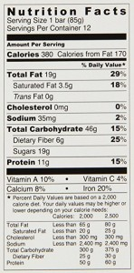 Pro Bar nutrition facts